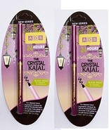 2 X ADS CRYSTAL KAJAL. 24 HOUR LONG STAY. BLACK, BOLD, NO SMUDGE WATER P... - $14.48