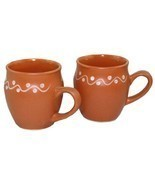 Odishabazaar Kulhar Kulhad Cups Traditional Indian Chai Tea Cup Set of 2... - £7.89 GBP