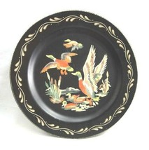 vintage PAINT BY NUMBER MALLARD DUCK WALL POCKET tin metal clean plate - $64.95