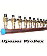 """1"""" Copper Manifold 3/4"""" Pex Uponor ProPEX (With & Without Ball Valve) 2-... - $43.96+"""