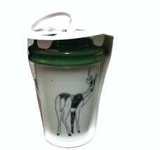 Starbucks Deer Christmas Ornament To Go Cup 2017 New Green Lid - $23.36