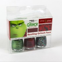 "Dr Seuss The Grinch "" Resting Grinch Face "" China Glaze Nail Lacquer Pol... - $18.42"