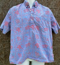 Vtg Reyn Spooner Hawaiian Shirt Canadian  Goose Flag Reverse topless gol... - $34.64