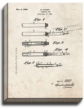 Fountain Pen Patent Print Old Look on Canvas - $39.95+