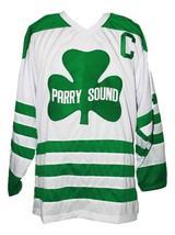 Custom Name # Parry Sound Shamrocks Retro Hockey Jersey White Orr #2 Any Size image 1