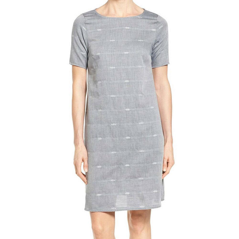 NWT EILEEN FISHER Bateau Neck Knee Length Viscose Jersey Dress Size Medium $178