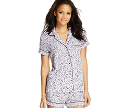 Alfani Notch Collar Top and Boxer Shorts, Classic Disty, Size 2XL - $24.74