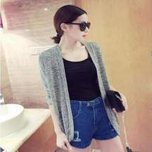 Loose Thin Knitted Women Cardigan - $19.38