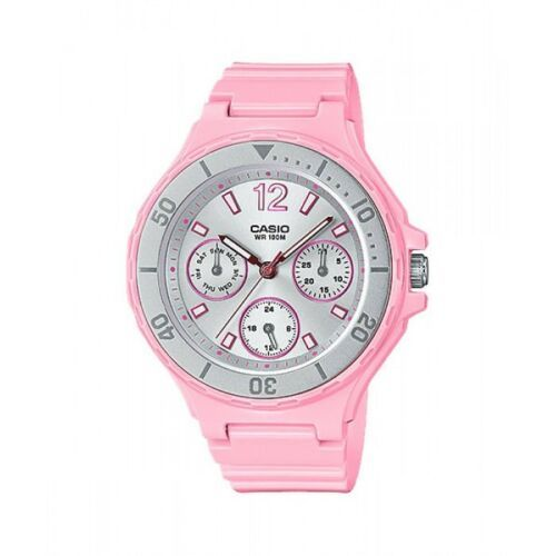 Casio LRW250H-4A2 Ladies PINK/SILVER Watch 100M Day/Date Rotating Bezel - $57.00