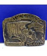 Old Truckers never die brass belt buckle Tiffany studio Peterbilt New Yo... - $49.45