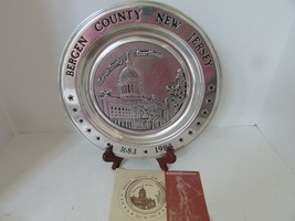 WILTON ARMETALE PLATE BERGEN COUNTY COURTHOUSE NEW JERSEY 1683-1983 NO.58 - $18.76
