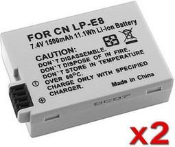 INSTEN Battery For Canon LP-E8/ Rebel T3i/ T2i/ 550D (Pack Of 2) - $23.21