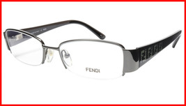 FENDI Eyeglasses Frame F894 (035) Metal Dark Gunmetal Italy Made 49-17-1... - $177.57