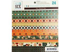 My Mind's Eye 6x6 Inch All Spice Designer Paper Pad #6x6103