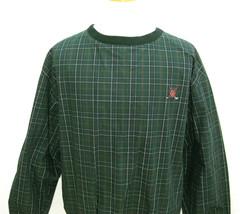 RALPH LAUREN Polo Golf Mens Green Tartan Plaid Long Sleeve Pullover Jack... - $13.95
