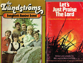 The Lundstroms, Songbook 7 + Let's Just Praise the Lord, Bill Gaither, 2... - $10.07