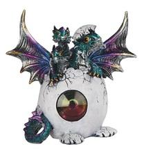3 Head Blue Dragon in Egg Figurine - $29.97