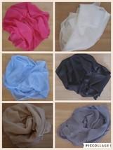 Donna 100 % Pure Collo Sciarpa Di Seta Sciarpa Hijab Tinta Unita - $9.40