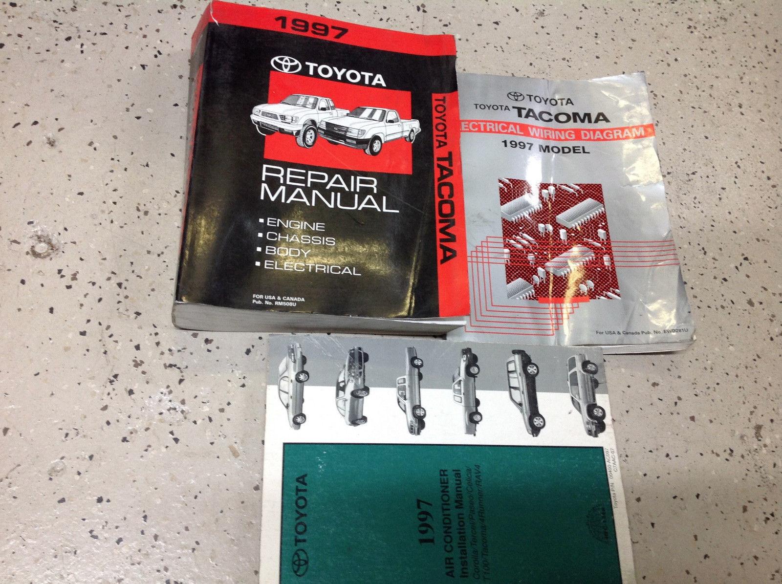 1997 TOYOTA TACOMA TRUCK Service Shop Workshop Repair Manual Set OEM W EWD Worn