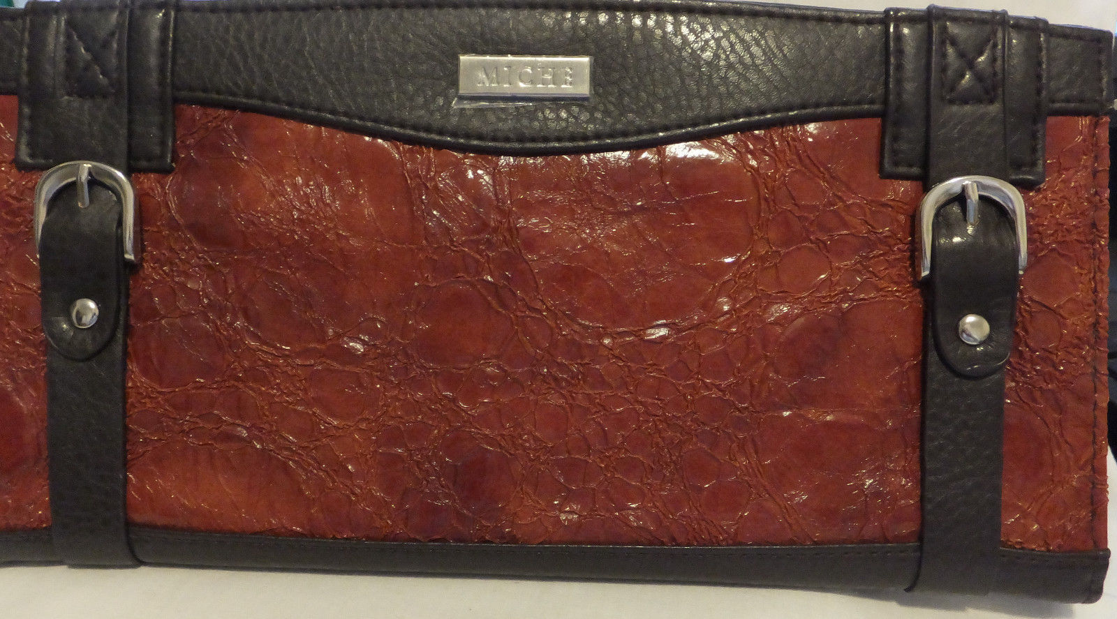 """Miche Saddle,or Shell, """"Reese"""" very attractive,Brown,Barn Red,with buckles"""