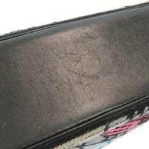 CHANEL Icon Chain Shoulder Bag Leather Knit Black Multi Color CC Logo Authentic image 6
