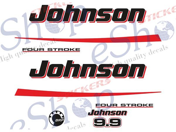 Johnson Outboard 4 Stroke 9 9 Or 15 Hp Decals Stickers Set