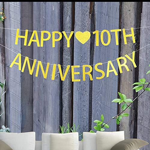10th Wedding Anniversary Party Ideas: Happy 10th Anniversary Banner For 10th Wedding Anniversary