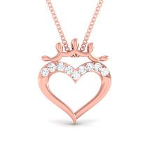 Solid 925 Sterling Silver 0.22ct Swarovski Diamond Pendant Promise Gift ... - $199.99