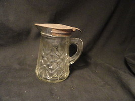 Crystal Depression Glass Syrup orCreamer with T... - $19.99