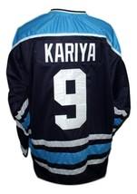 Any Name Number Maine Paul Kariya Hockey Jersey New Navy Blue image 2