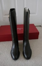 NIB 100% AUTH Salvatore Ferragamo Fersea Rubber-Sole Knee-High Boots 6.5B - $494.01