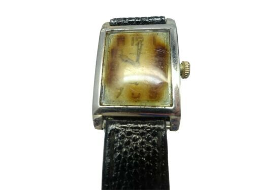 WALTHAM ART DECO 1925 14KT WHITE GOLD WATCH RUNS FOR RESTORATION GLASS AND CASE - $1,436.47