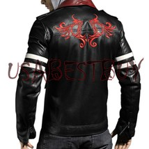Handmade New Men Stylish Embroidery Back Leather Jacket, Men leather jacket - $159.00