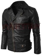 Handmade New Men Stylish Brando Simple Leather Jacket, Men leather jacket - $189.00