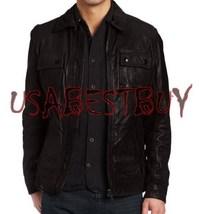 Handmade New Men Stylish Strap Pocket Classic Leather Jacket, Fashion Ja... - $189.00
