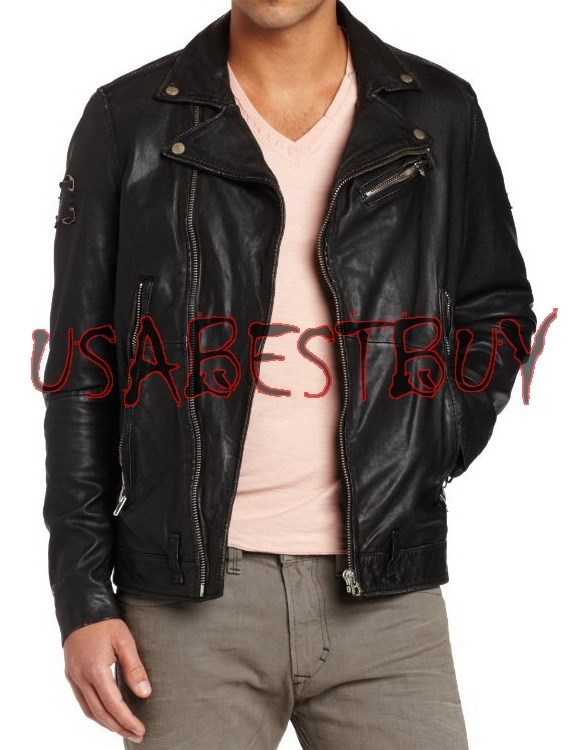 Handmade New Men Stylish Classic Vintage Bomber Leather Jacket, Men leather jack