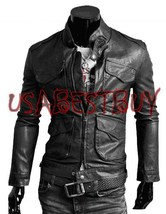 Handmade New Men Stylish Front Pockets Bomber Leather Jacket, Men leathe... - $139.00