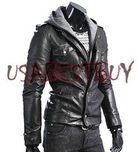 Handmade New Men Superb Chic Biker Leather Jacket, Men leather jacket - $139.00