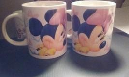 Lot of 2 Disney Minnie Mouse Mugs Cups Glasses Coffee Tea Hot Cocoa  - $11.30