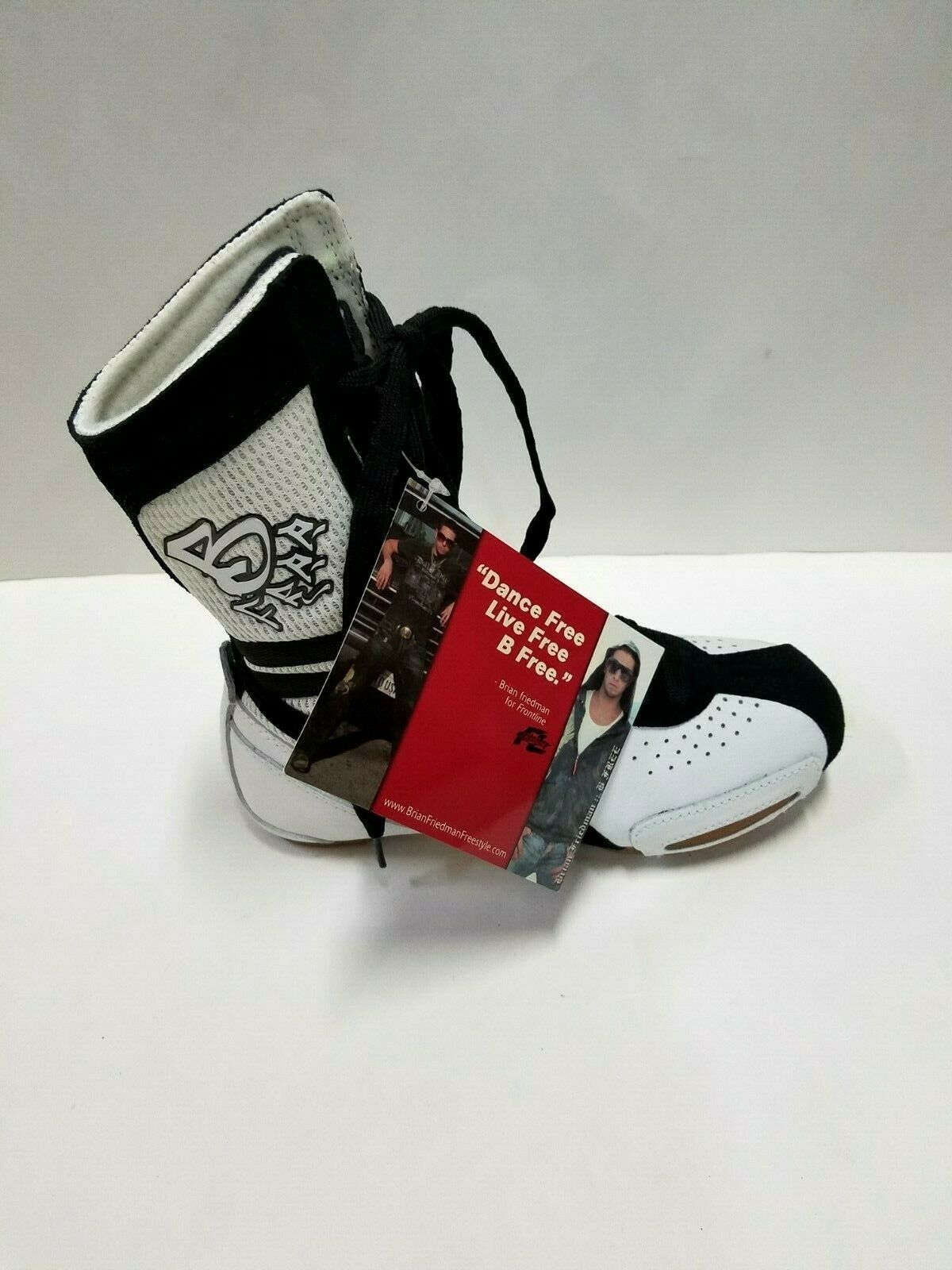 Hi-Top BF2 Adult Size 3M White/Black Dance Sneakers