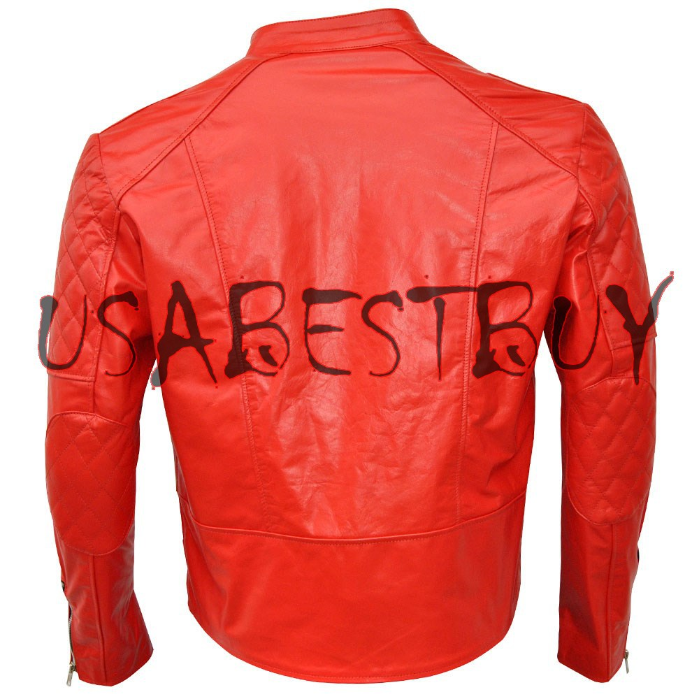 Handmade New Men Stylish Brando Classic Bomber Leather Jacket