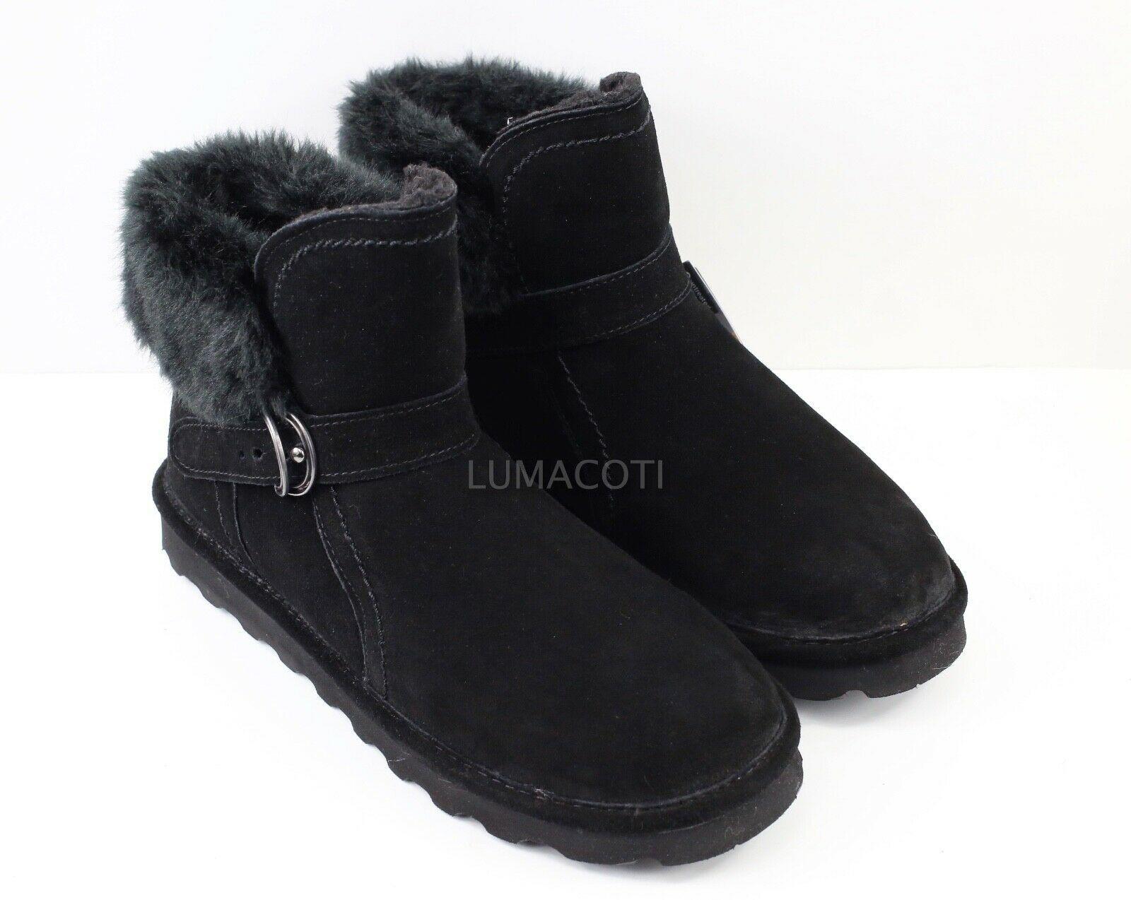 Womens Bearpaw Koko Winter Boots - Black Suede Size 11 [2012W/Black II]
