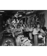 US Navy Fighter Pilots in Ready Room Pacific 1945 8x10 World War II WW2 ... - $6.61