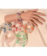 NeW  Memory Wire Stretch Wrap  Cuff Bracelet ~   Multi Color Beads Dice ... - $4.99