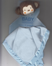 Monkey Security Blanket And Rattle, Blue, By Baby Essentials, Brand New - $12.81 CAD
