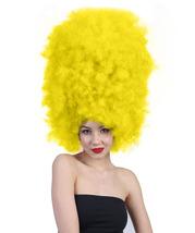 Super Size Jumbo Yellow Afro Wig - £27.66 GBP