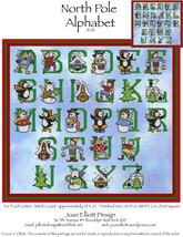 North Pole Alphabet JE121 cross stitch chart Joan Elliott Designs - $14.00