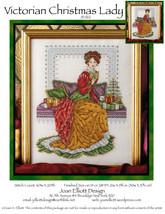 Victorian Christmas Lady JE062 cross stitch chart Joan Elliott Designs - $14.00