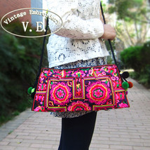 Vintage Embroidery Women Bag National Handmade Double Faced Shoulder Messenger B - $31.14