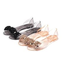 BowNot Women's Flats Summer New Sandals Transparent PVC 2017 Arrival Comfortable Eg8qy